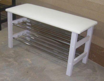 Скамейка для обуви СА-02 белая
