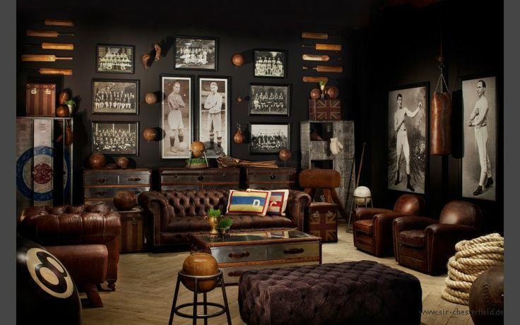 Kensington Chesterfield Ledersessel - Clubsessel Braun, Cigar