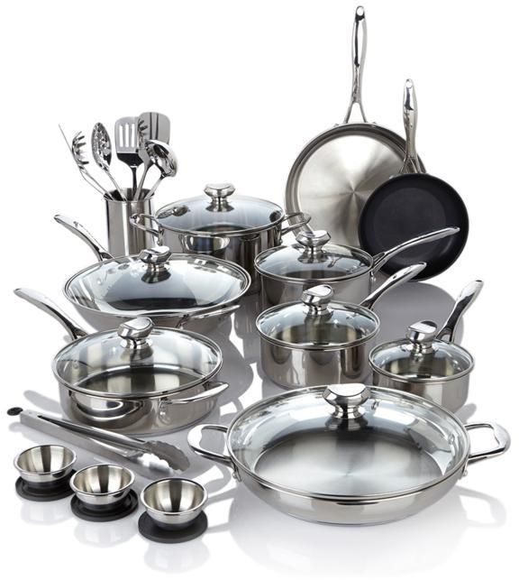 Wolfgang Puck Bistro Elite 27-piece Stainless Steel Cookware Set - $229.95
