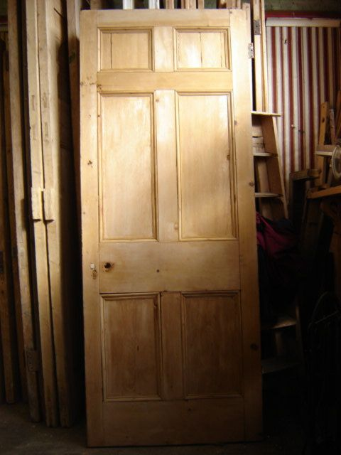 Georgian 6 panel pine door. Condition from door to door may vary. Sizes available: H 203cms W 81cms D3.5cms Lots of these in different sizes