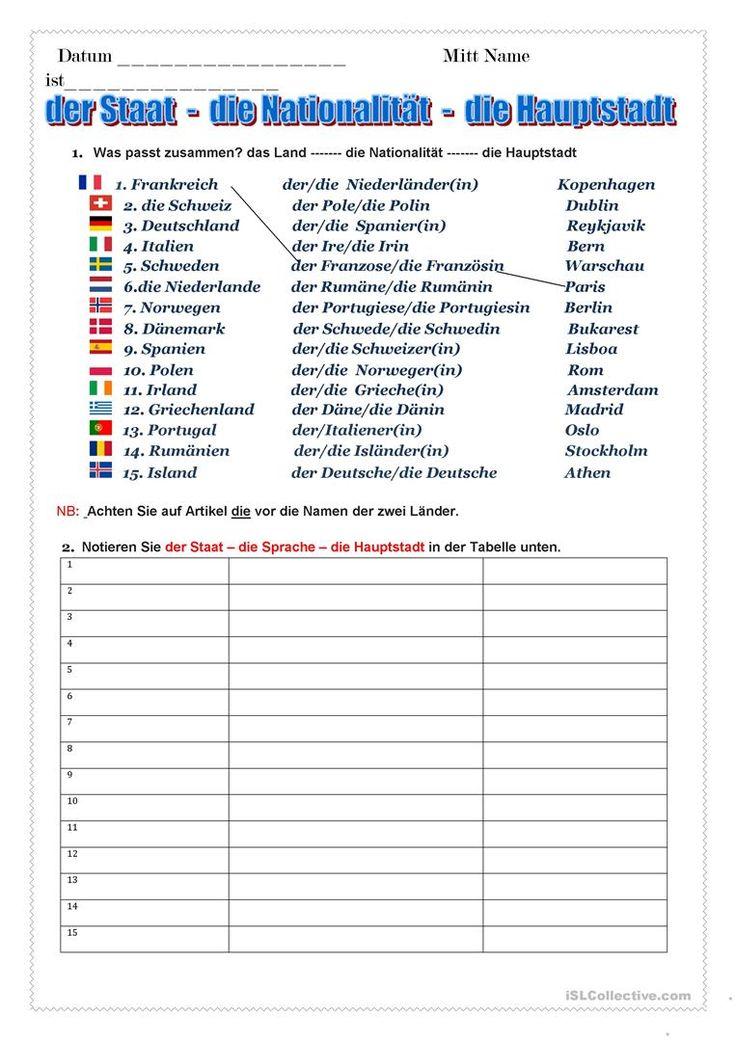 109 besten Unterrichtsideen Bilder auf Pinterest | Deutsch lernen ...