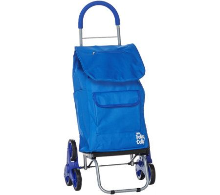Trolley Dolly 2-in-1 Folding Cart & Dolly with Stair Climbing Wheels