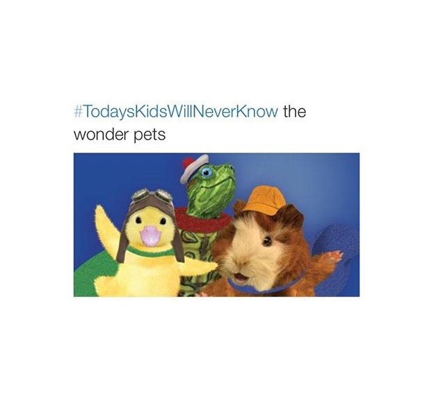 """""""wonder pets wonder pets we're on our way to help the __________ and save the day we're not too big and we're not too tough but when we work together we've got all the right stuff GO wonder pets..."""""""