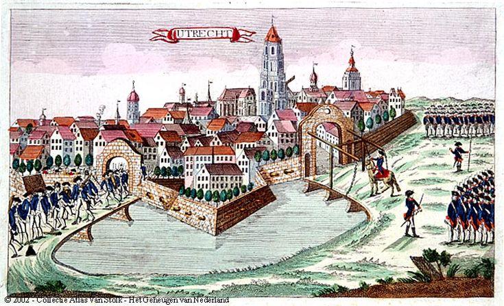 Het Pruisische leger verdrijft de patriotten uit Utrecht, Atlas Van Stolk