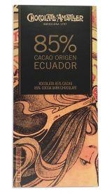 Amatller 70g. Ciocolata neagra 85% cacao origine Ecuador