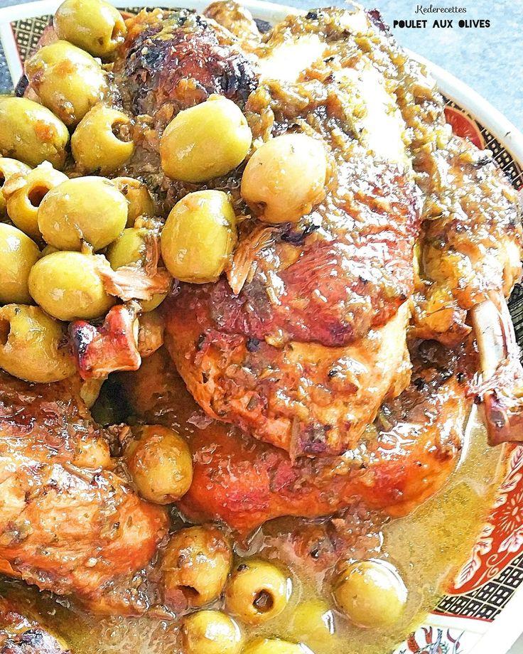 Assalam Aleykoum, Bonjour à tous ! Un bon poulet aux olives comme je l'aime.... Avec du pain maison pour pouvoir saucer cette bonne sauce aux bon goûts d'olives!!!!! Un DELICE.... _1 ou 2 poulets fermier (entier ou couper) _ 6 oignons rouges _ 1 c à café...