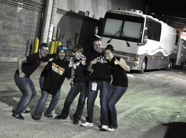 In front of blue october 39 s tour bus in may 2011 blue for 18th floor balcony by blue october