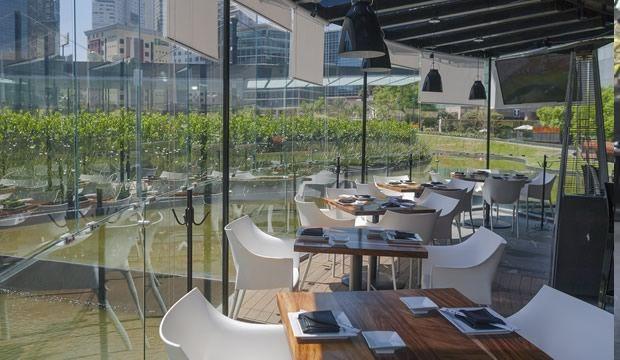 boku asian restaurant, terrace design, santa fe; mexico city.