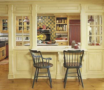 Kitchen Transitional Elements And Room Dividers Cabin KitchensCountry KitchensPass Through