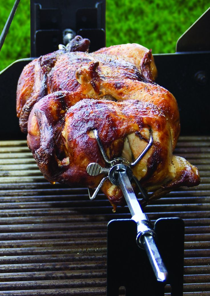how to cook meat on bbq rotisserie