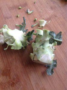 flan de queue de brocoli