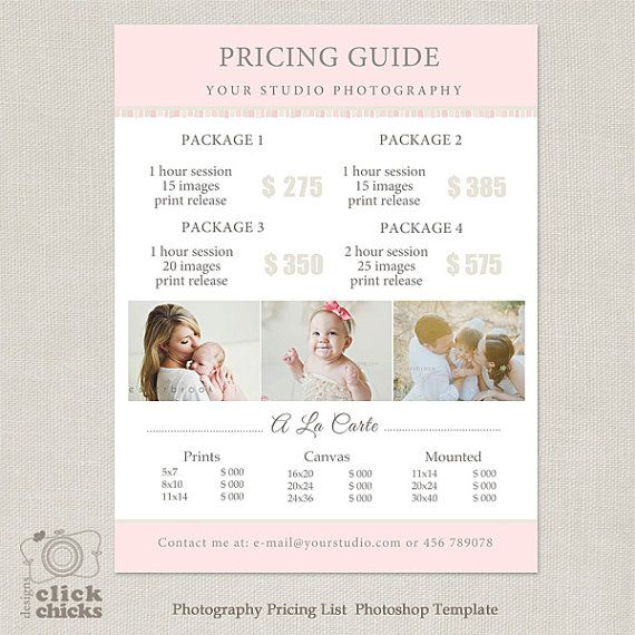 Wedding Family Photography List: 185 Best Marketing Photoshop Templates For Photographers