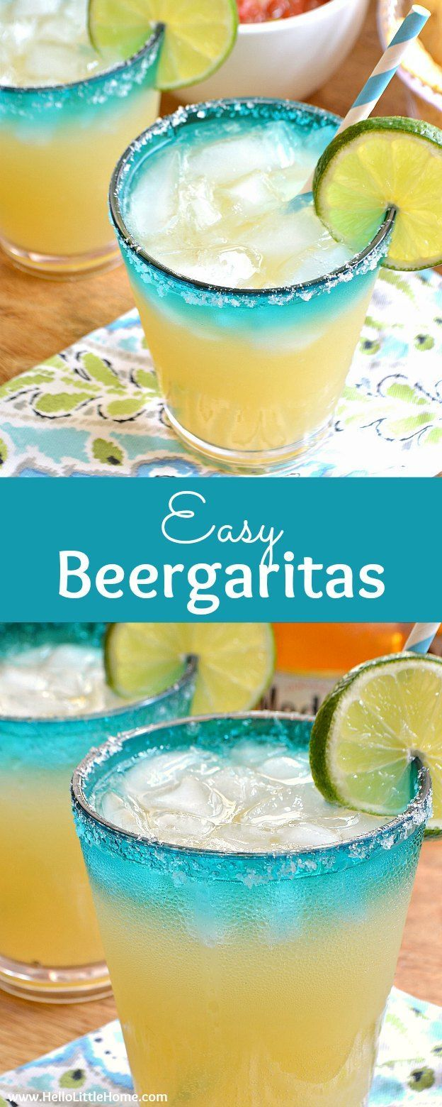 Easy Beergaritas recipe ... a delicious, refreshing combination of your two favorite party drinks, beer and margaritas! Make a pitcher of Beergaritas with three simple ingredients following this fast, easy recipe. Perfect for Cinco de Mayo or any celebrat