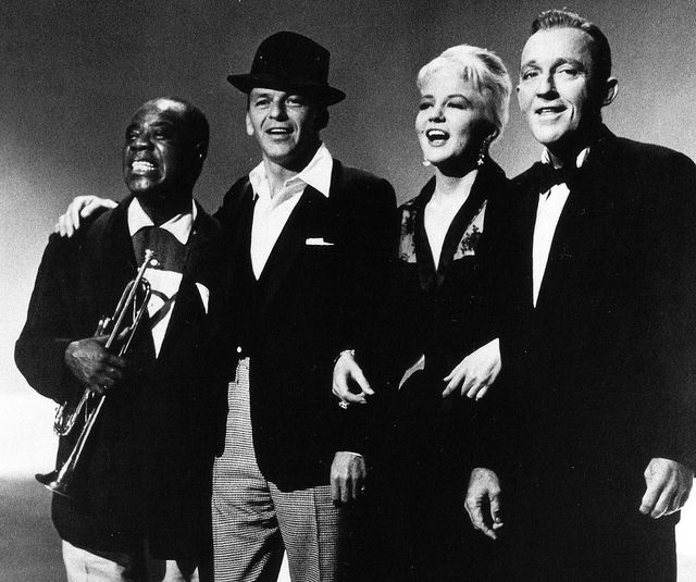 Louis Armstrong, Frank Sinatra, Peggy Lee and Bing Crosby