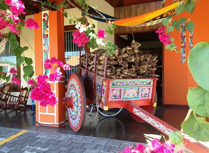 Traditional painted ox cart, from Costa Rica.
