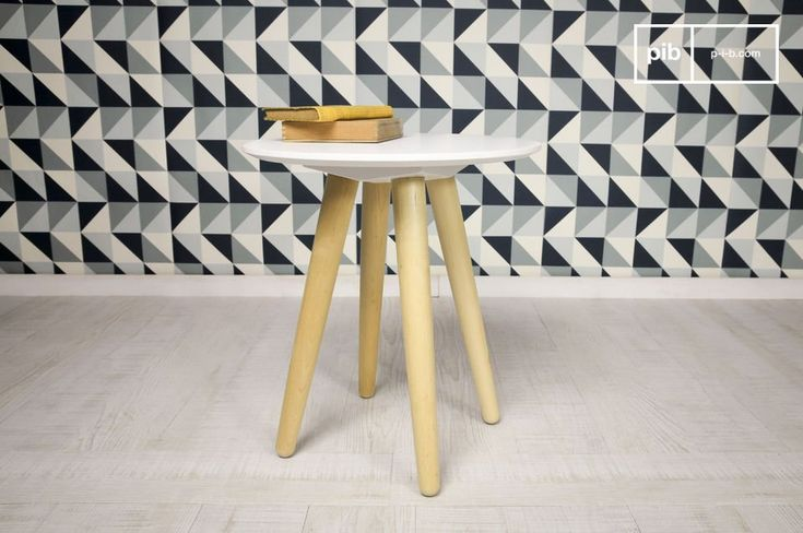 Beel side table is a small, beautiful piece of furniture that has been designed in an attractive Scandinavian style. It is reminiscent of the type of furniture that could be found in the 1950s.