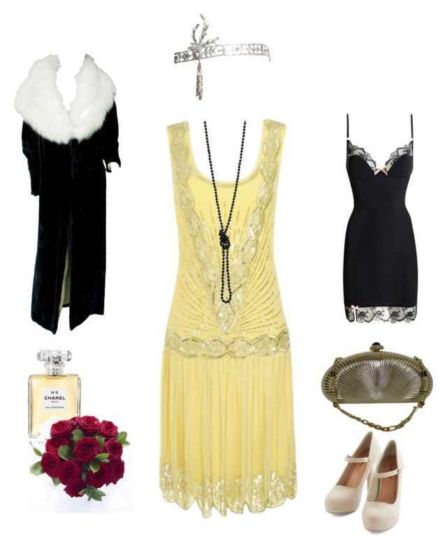 Saturday Date 1920's outfit by asenat1970 on Polyvore featuring moda, Agent Provocateur, Judith Leiber, Chanel, women's clothing, women's fashion, women, female, woman and misses