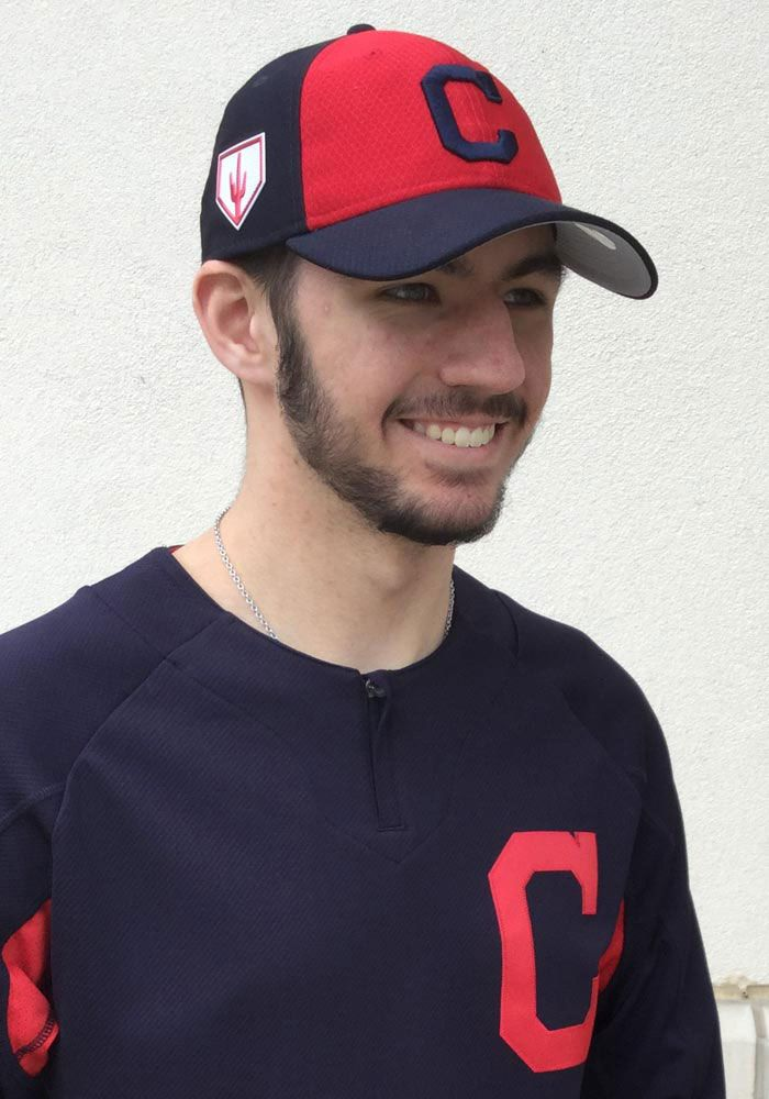 newest 1a169 43568 New Era Cleveland Indians Mens Navy Blue Spring Training BP ...
