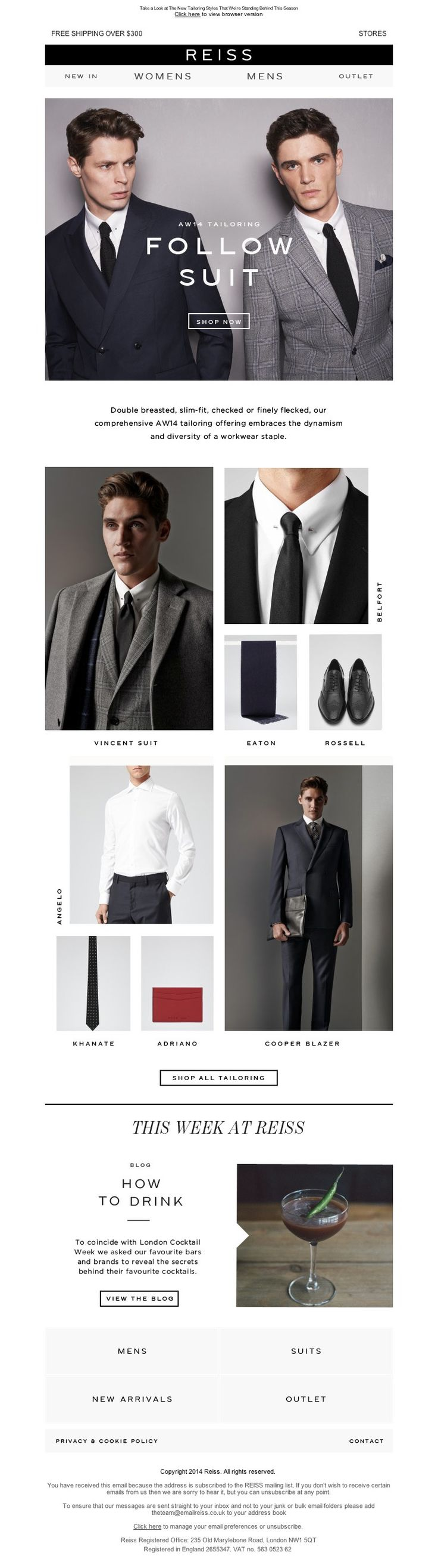 Reiss - Sharp Suits: AW14's Iconic New Tailoring