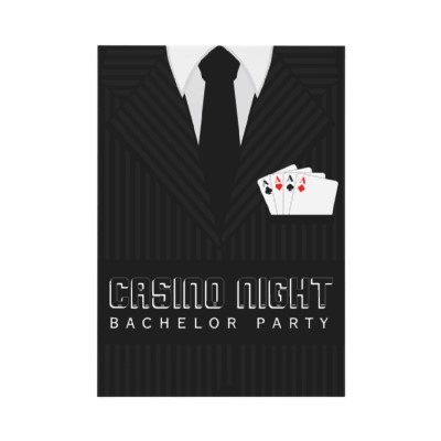 Casino Night invitation from Zazzle. (We like the idea of trying this one with a tuxedo.)Black Ties, Wedding'S Baby Shower, Vegas Parties, Casino Party Invitations, Bachelor Parties, Parties Ideas, Parties Hearty, Casino Night, Casino Parties
