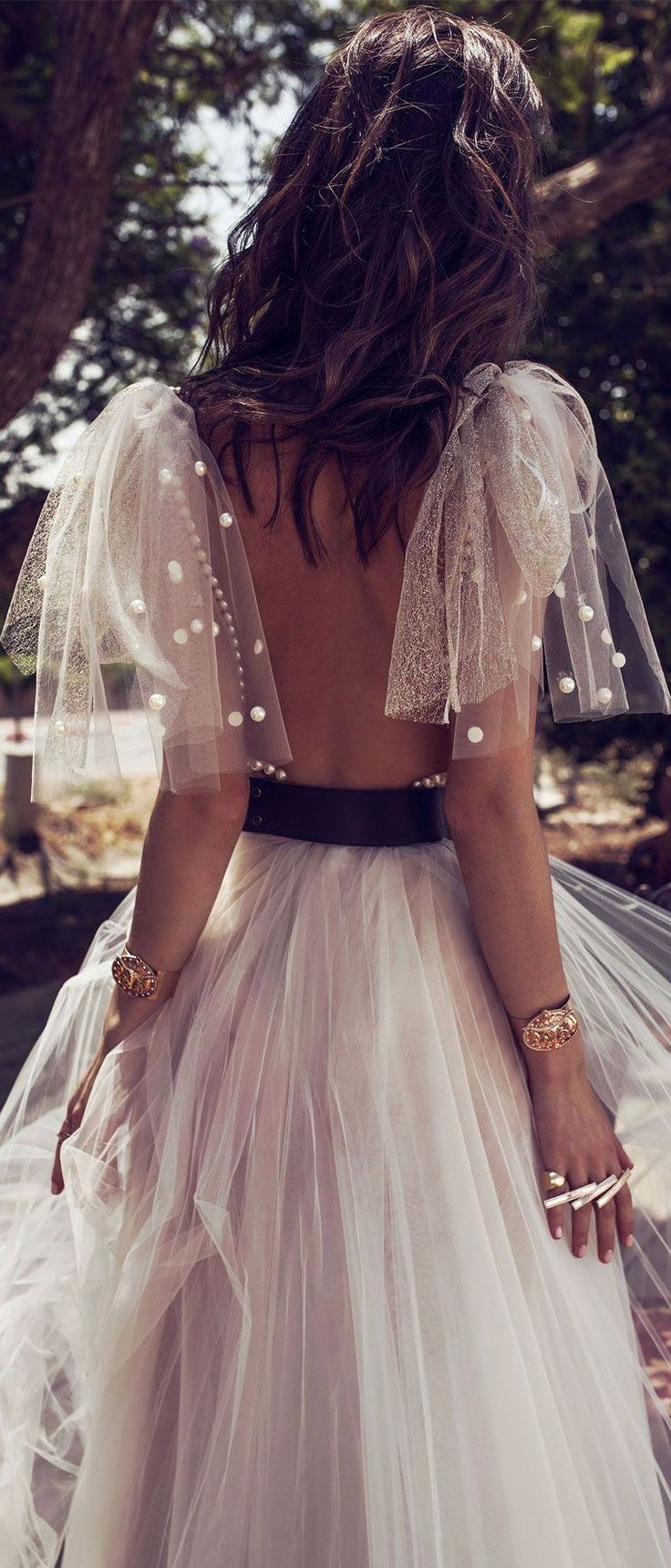 Short sleeves open back a line wedding gown #wedding #wedding #weddingdress #weddinggown #weddinggowns