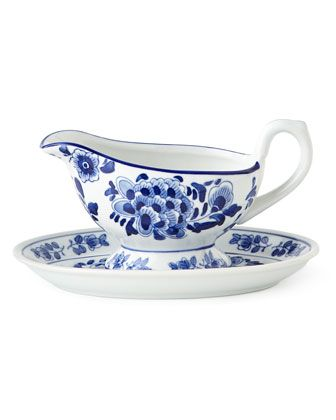 Traditional Gravy Boat & Stand by NM EXCLUSIVE at Horchow.