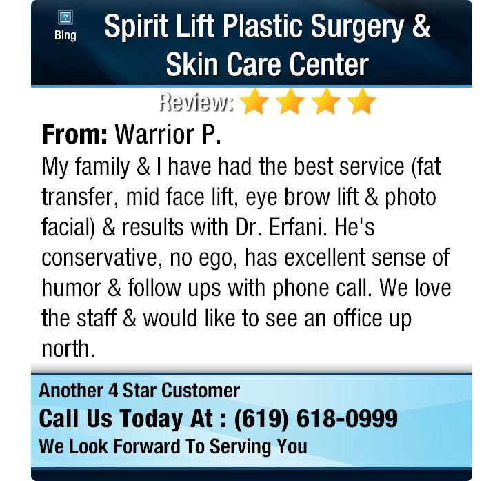 My family & I have had the best service (fat transfer, mid face lift, eye brow lift &...
