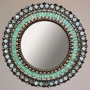 "Jade Bronze Mirror 13""                                                                                                                                                     More"