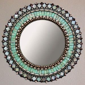 """Jade Bronze Mirror 13""""                                                                                                                                                     More"""