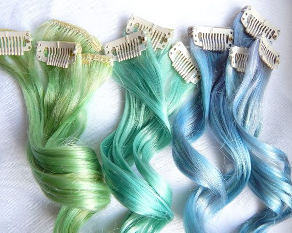 MERMAID Human Hair Extensions : Double Wefted by TheUnicornMane