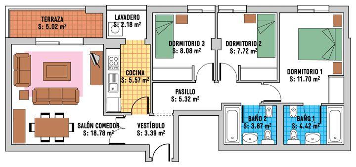 planos de casas mediterraneas de madera - Buscar con Google