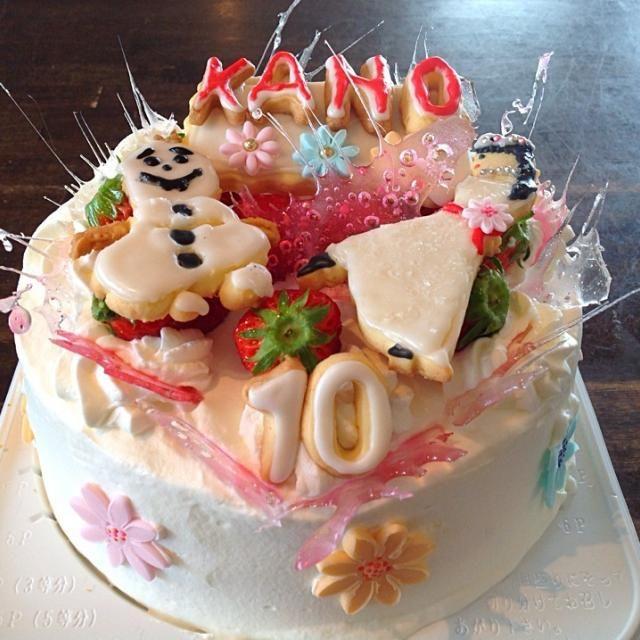 アナと雪の女王に見えますか? 氷は飴作りました。 わかりますか? - 7件のもぐもぐ - アナと雪の女王編バースデーケーキ by 美智子