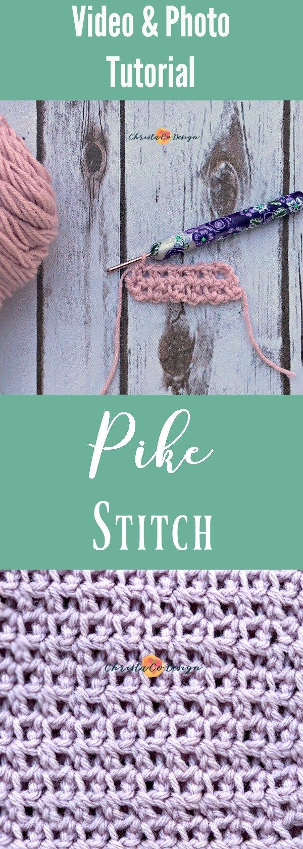 Learn to crochet the pike stitch and extended single crochet in this detailed tutorial. I've created a video tutorial and a photo tutorial to suit all learning styles.