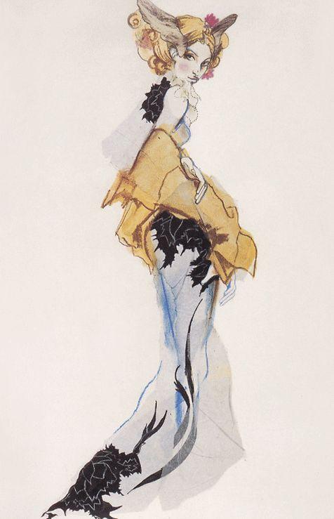 Julie Verhoeven for John Galliano - 1994 - Fashion illustration - @~ Mlle