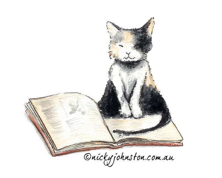 Cat Illustration by Nicky Johnston