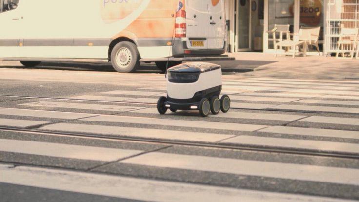 Kijkt u niet gek op als straks niet de pizzabezorger maar de robot op de stoep staat. Pizza-keten Domino's maakt als eerste in Europa gebruik van de bezorgrobot voor het rondbrengen van hun maaltijden.
