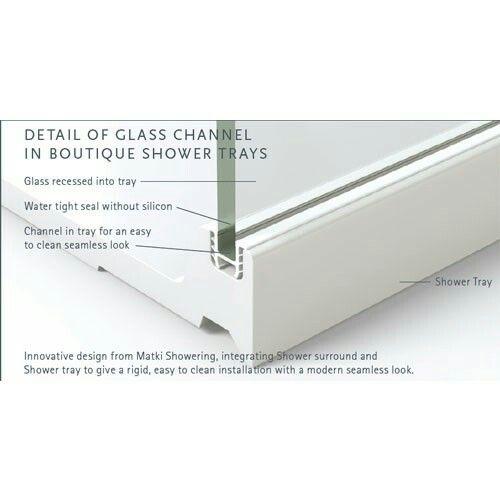 Matki shower tray - no silicone