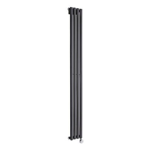 Radiateur électrique vertical Vitality compact noir laqué 1780mm x 236mm - 732 watts - Image 1