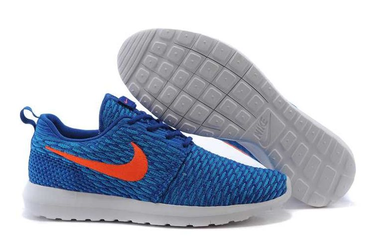 Pick A Best Nike Roshe Run Flyknit Mens Game Royal Trainers