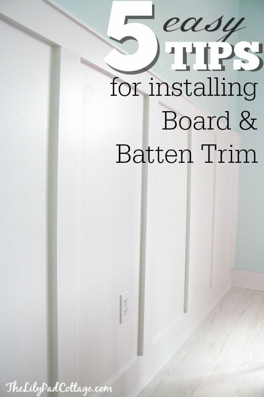 5 Board and Batten Tips - my adventures with power tools and a giveaway - The Lilypad Cottage
