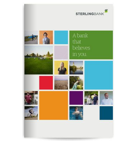 simple, colorful annual report cover