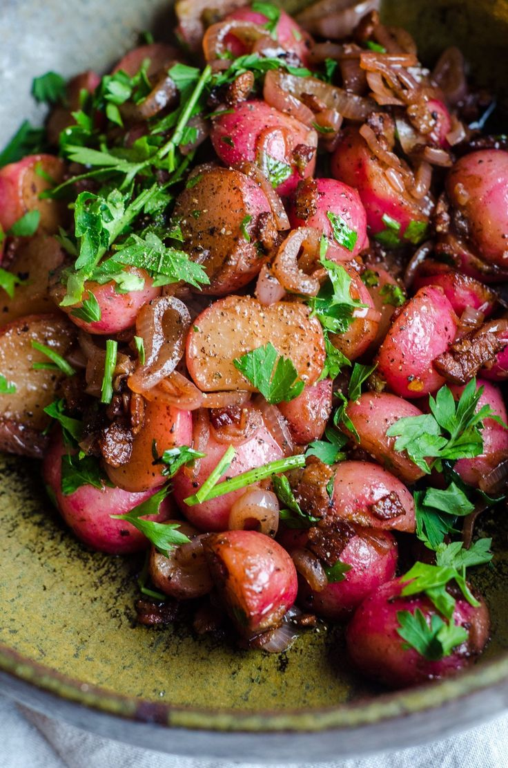 Recipe: Braised Radishes with Shallots & Bacon
