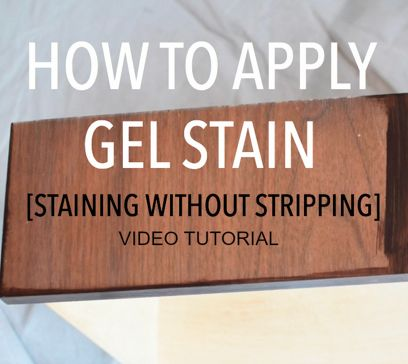 This gel stain video tutorial shows you how to stain with gel stain over an existing finish without having to strip off the old finish.