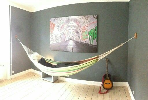 Indoor Hammock Wall Hanger Diy Pinterest Wall Mount
