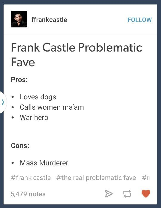 Frank Castle problematic fav