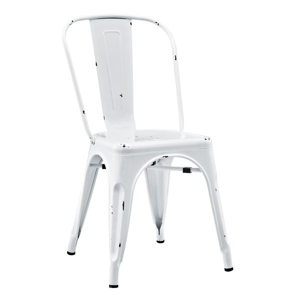 Walker Edison Metal Cafe Chair   Antique White  Metal Caf Chair   Antique  White. Best 25  Metal cafe chairs ideas on Pinterest   Metal chairs