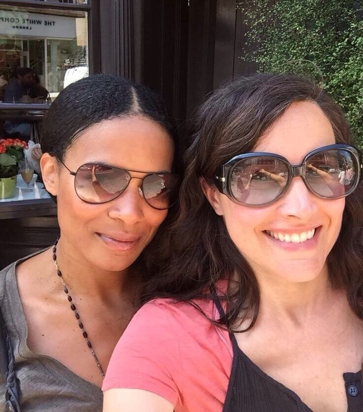 Rachel Shelley and Rose Rollins