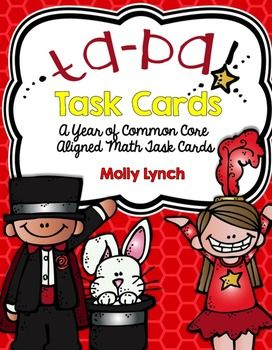 Ta Da: Task Cards for the Year! A Year's worth of Math Common Core Task Cards!