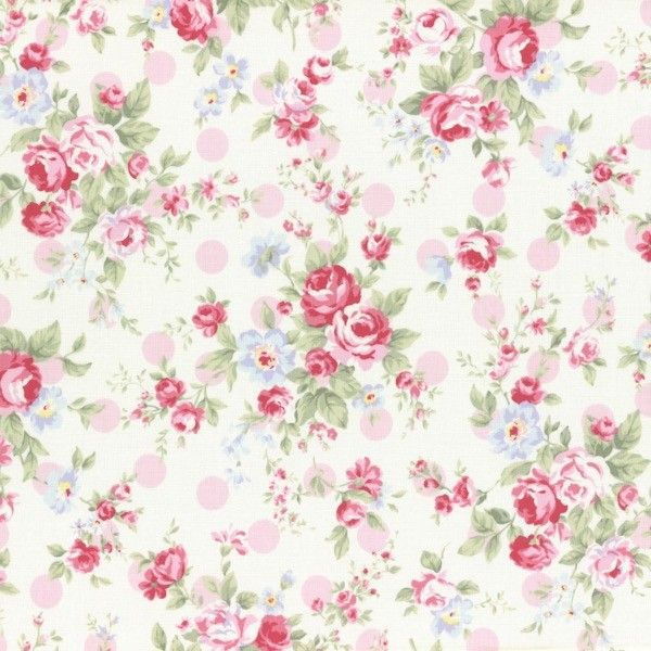 Lecien - Princess Rose - Rose Spots - Pink - BOLT END £11.7 http://www.thehomemakery.co.uk/lecien-princess-rose-rose-spots-pink