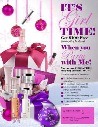 mary kay party ideas | Look what you can get for free just for having some friends over for ...